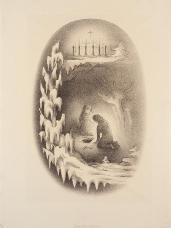 29b2bae410d Jan Zrzavý - Ilustrace Štědrý den z Kytice od Karla Jaromíra Erbena