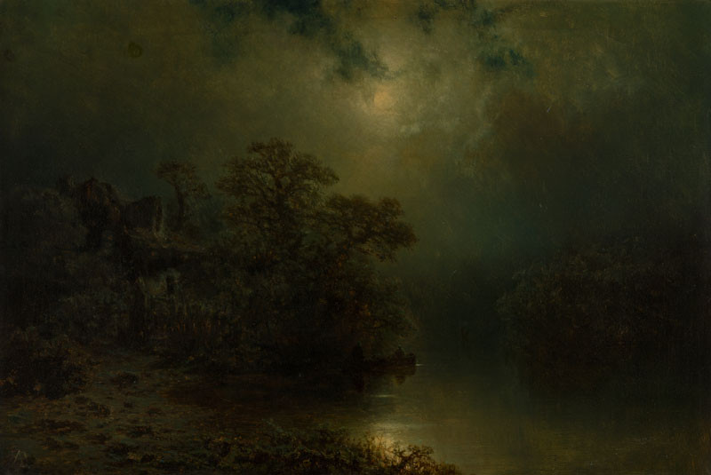 August Bedřich Piepenhagen - Moonlight Night