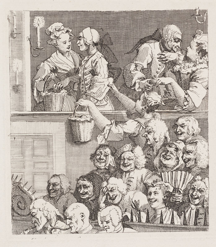 William Hogarth - engraver - The Laughing Audience