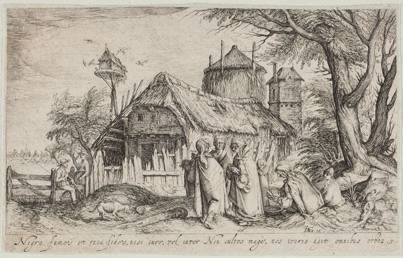 Andreas Stock - engraver, Jacques de Gheyn II. - designer - Landscape with Gypsies