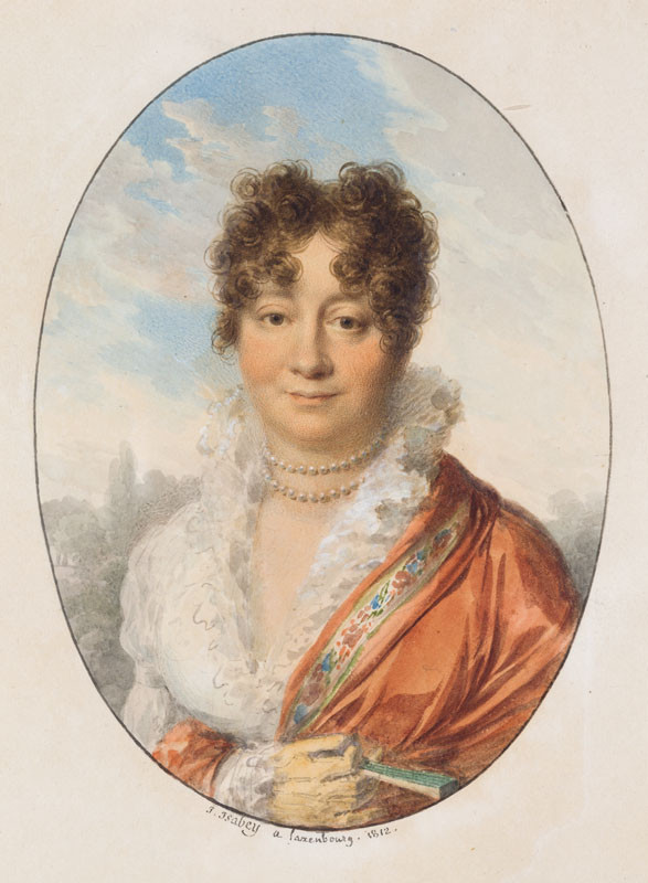 Jean Baptiste Isabey - Portrait of Countess Maria Ulrike of Lažany, nee Falkenhayn (1765–1852)