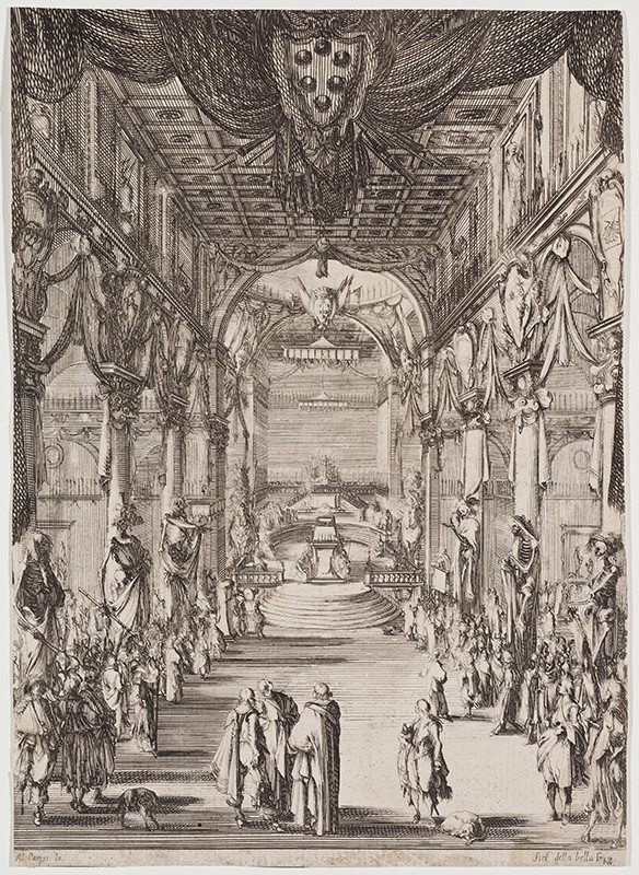 Stefano della Bella - Funeral Ceremony for Francesco de Medici in the St Lawrence Church in Florence