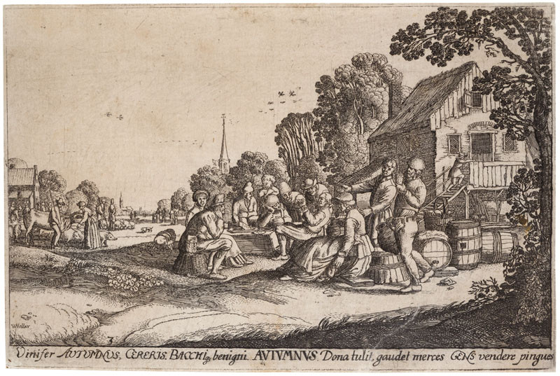 Wenceslaus Hollar - engraver, Jan van de Velde - inventor - Autumn from the cycle The Four Seasons