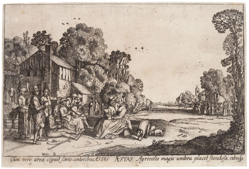 Wenceslaus Hollar - engraver - Summer from the cycle The Four Seasons