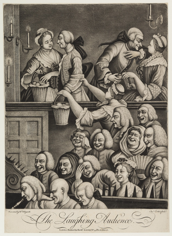 Charles Corbet - engraver, William Hogarth - inventor - The Laughing Audience