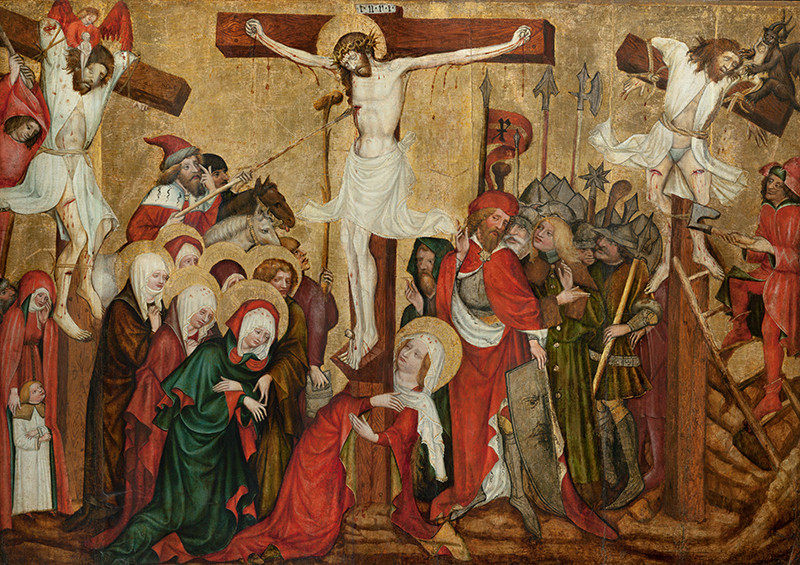 Master of the Rajhrad Altarpiece - Crucifixion from Nové Sady, called the Rajhrad Altarpiece