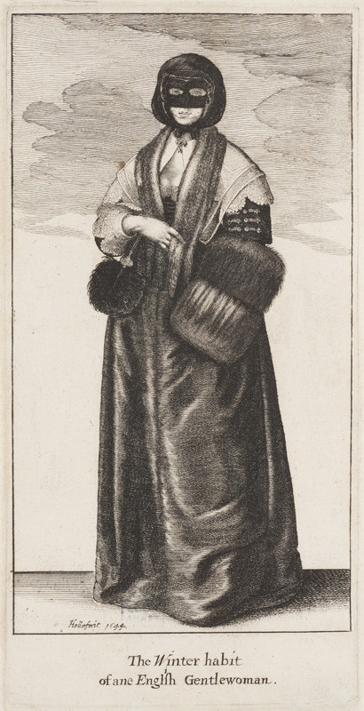 Václav Hollar - engraver - English Lady in Winter Costume