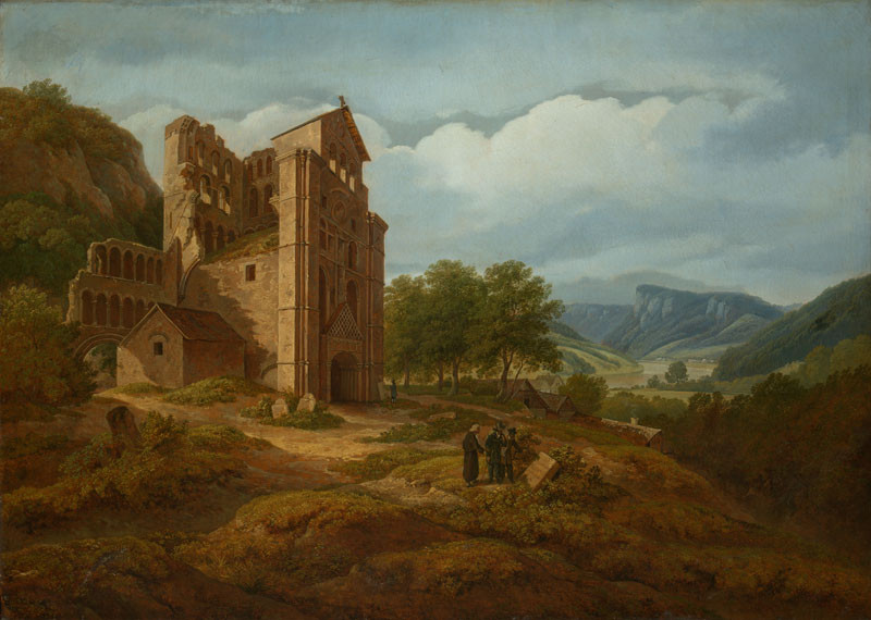 Antonín Mánes - Landscape with Kelso Abbey Ruins
