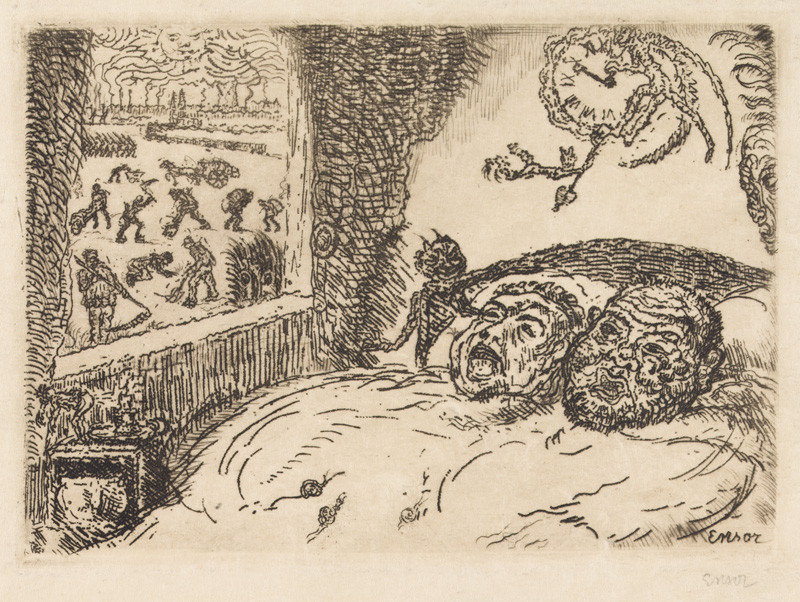James Ensor - Sloth from the cycle The Deadly Sins