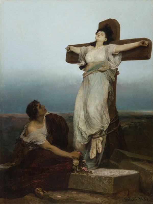 Gabriel von Max - Saint Julia (Martyr on the Cross)