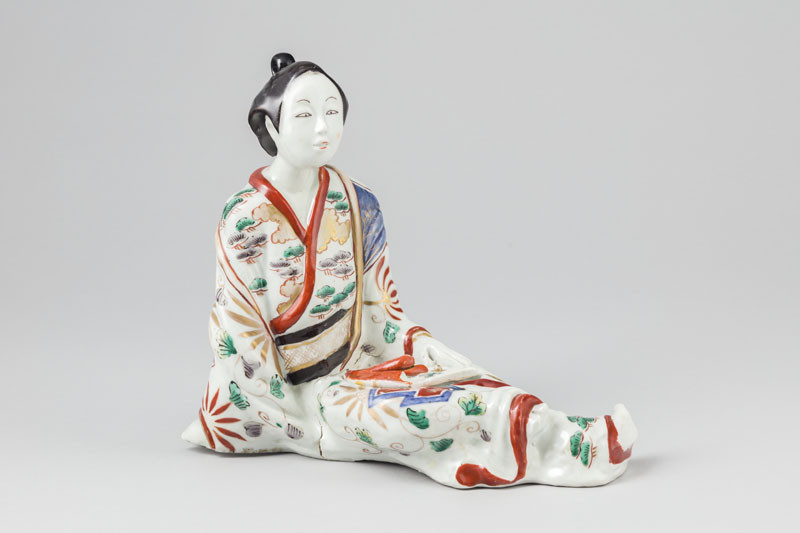 Anonymous artist - Incense burner shaped like a seated beauty