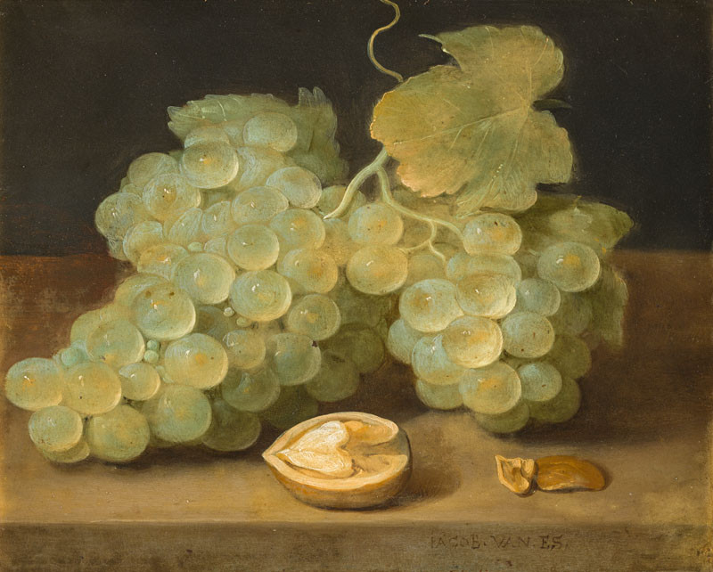 Jacob Fopsen van Es - Still life with Grapes and Walnut