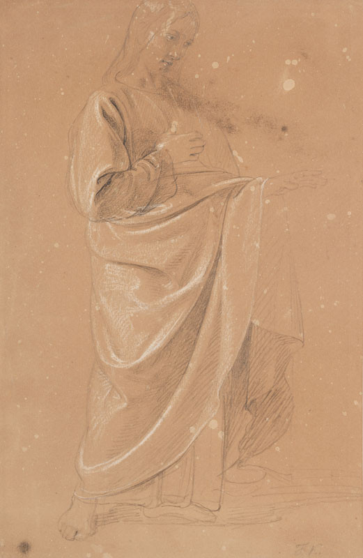 František Tkadlík - Study of Christ from the painting The Calling of Saint Peter