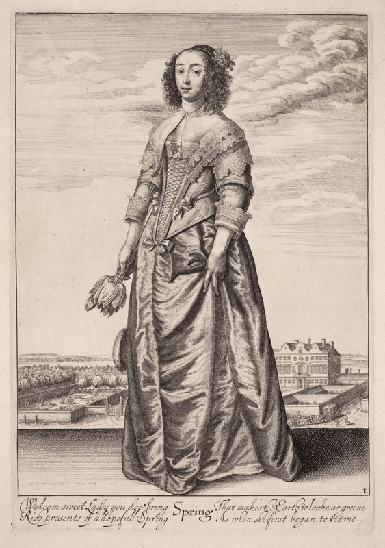 Wenceslaus Hollar - engraver - Spring From the cycle The Four Seasons as Full-Length Female Figures