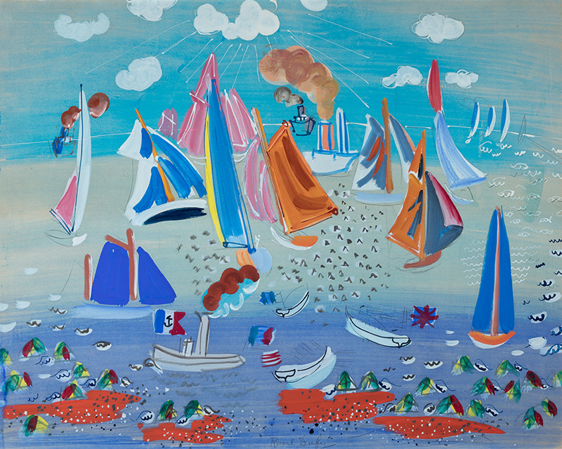 Raoul Dufy - The Sea and the Ships