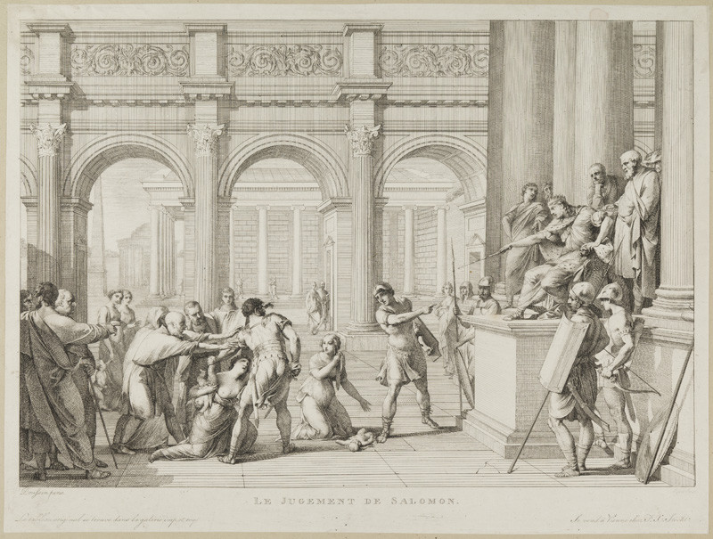 Karl Joseph Aloys Agricola - engraver, Rémy Vuibert - inventor - The Judgment of Solomon