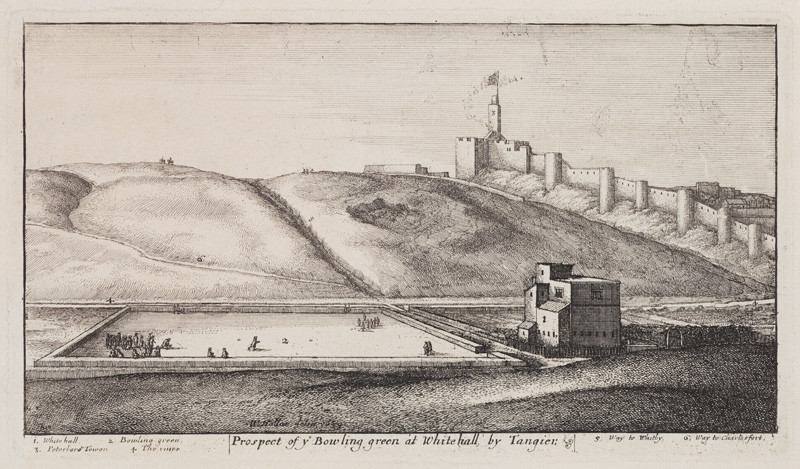 Václav Hollar - engraver - View of Tangier with the Bowling Green from the cycle Tangier Views