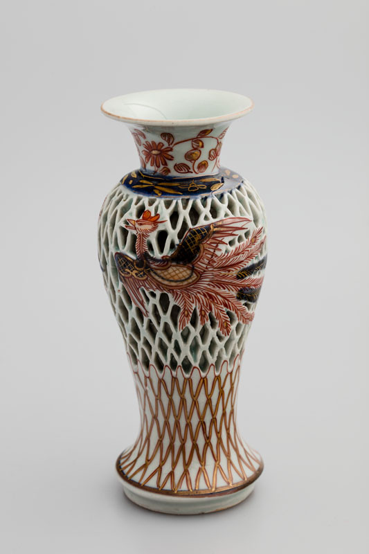 Anonymous artist - Double wall vase decorated with phoenix and fishing net motif