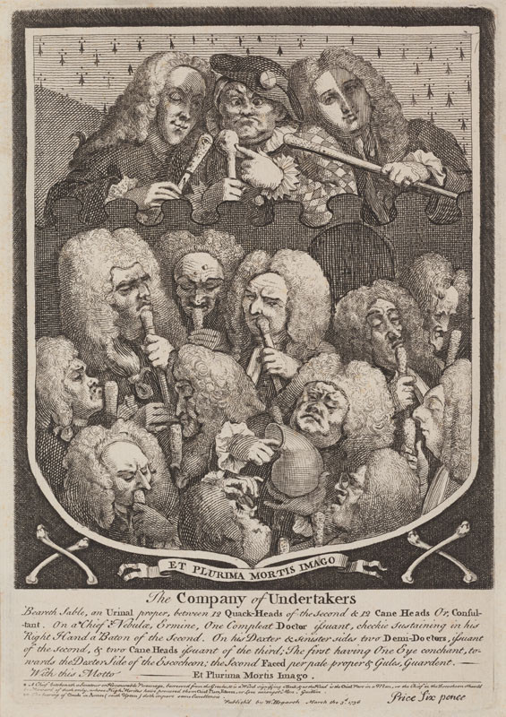 William Hogarth - engraver - The Company of Undertakers