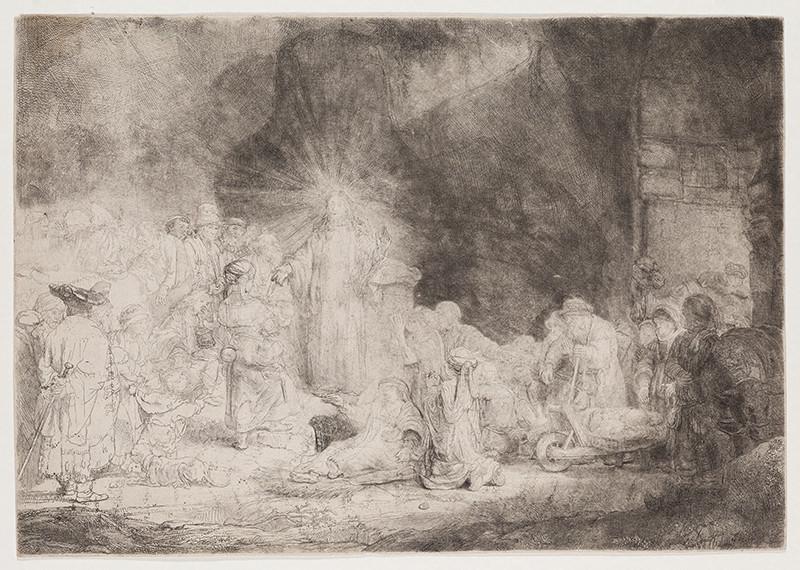 Rembrandt Van Rijn Kristus Uzdravuje Nemocne Stozlatovy List