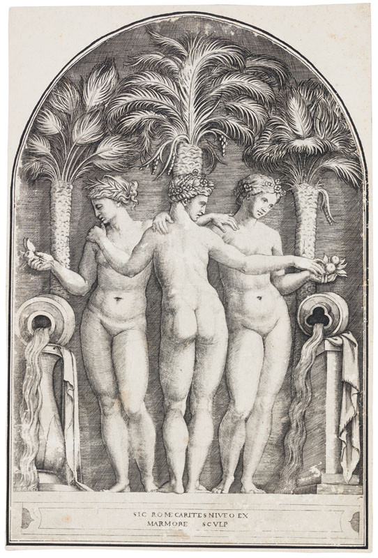Marcantonio Raimondi - engraver, Raffael - inventor - The Three Graces