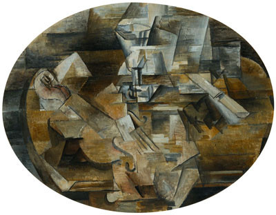 Georges Braque - Violin, Glass and Knife