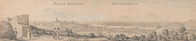 Wenceslaus Hollar - Large View of Prague from the Petřín Hill