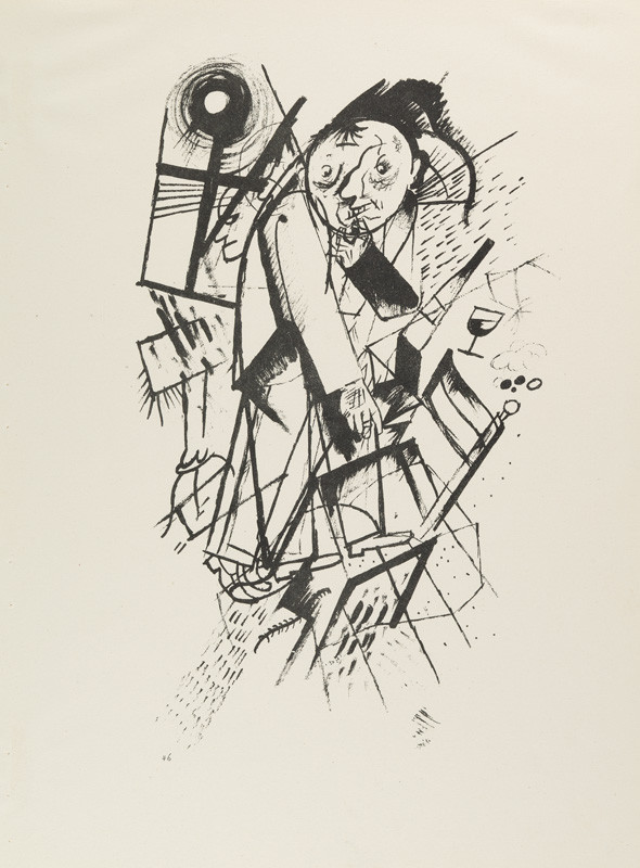 "George Grosz - engraver, Malik Verlag Berlin - publisher - From the cycle ""Ecce homo"" - 46. Dedicated to F. Jung"