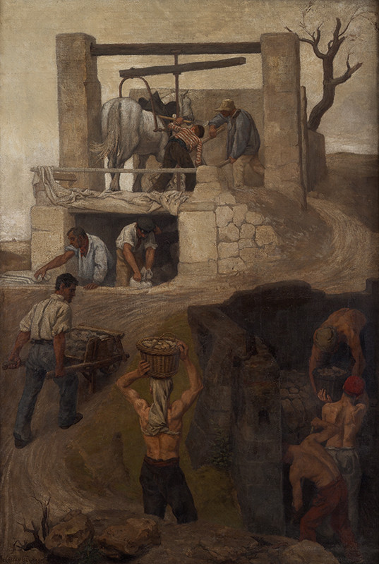 Hippolyt Soběslav Pinkas - Workers at Montmartre