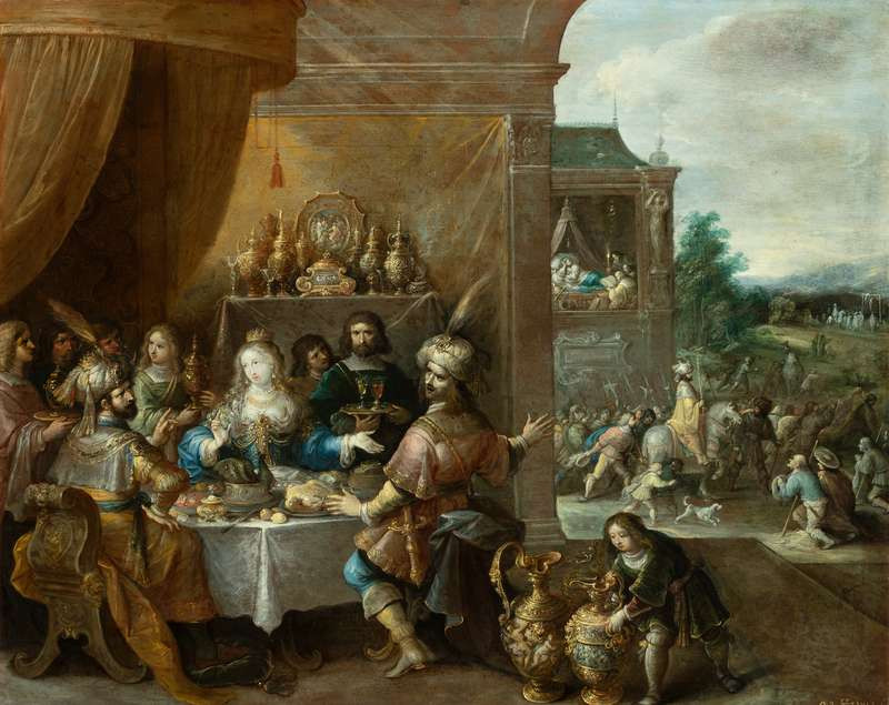 Frans ll. Francken - The Feast of Esther