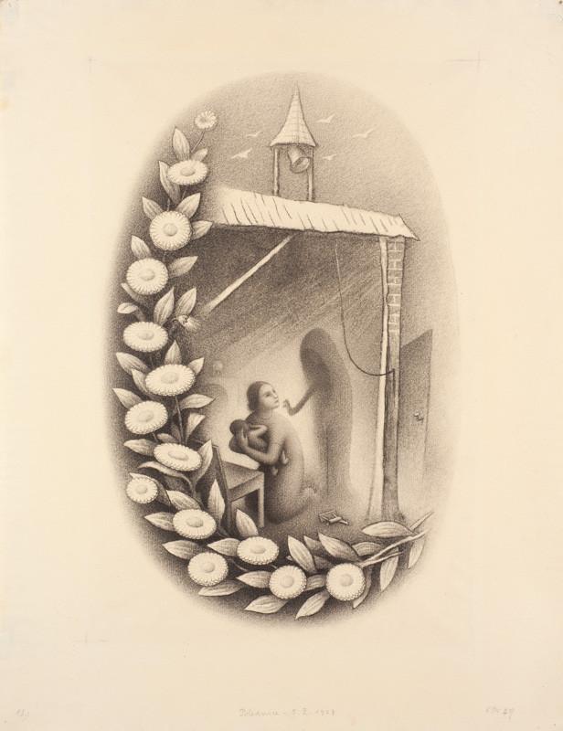 383e1022426 ... Jan Zrzavý - Ilustrace Polednice z Kytice od Karla Jaromíra Erbena ...