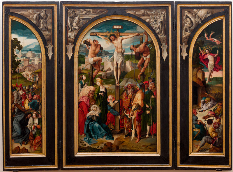 Cornelis Engelbrechtsz - (studio) - Triptych with the Crucifixion - The Crucifixion