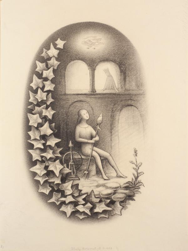 7932c957bcb Jan Zrzavý - Ilustrace Zlatý kolovrat z Kytice od Karla jaromíra Erbena