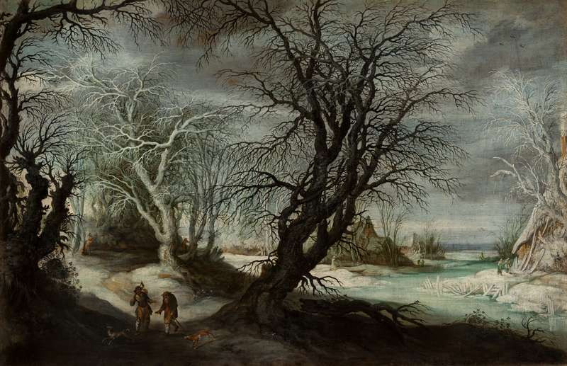 Gysbrechts Leytens - Winter Landscape with the Woodcutters