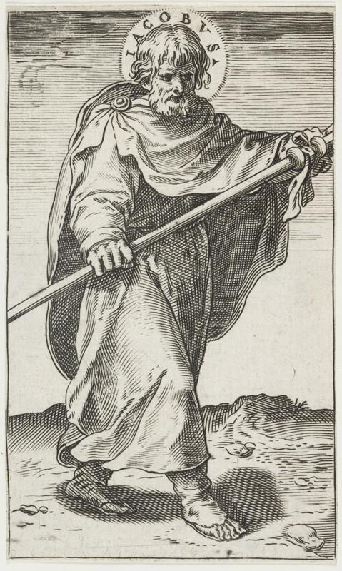 Agostino Carracci - rytec - Svatý Jakub | Národní galerie Praha - sbírky