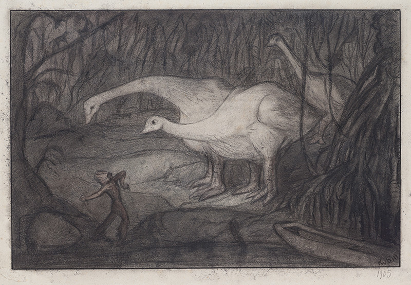 Alfred Kubin - Giant Chickens