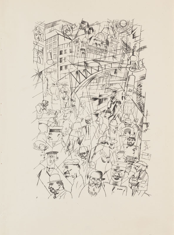 "George Grosz - engraver, Malik Verlag Berlin - publisher - From the cycle ""Ecce homo"" - 1. Friedrichstrasse"
