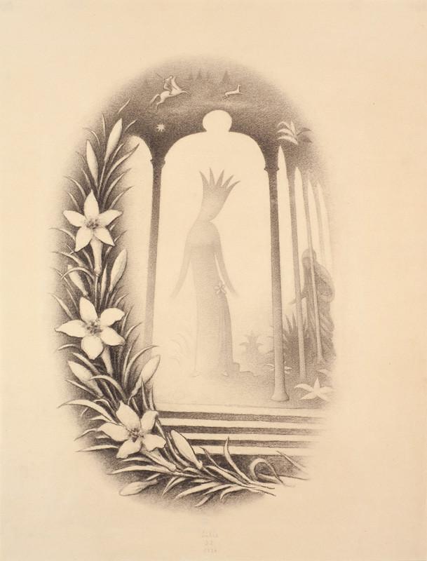 cb33983e499 Jan Zrzavý - Ilustrace Lilie z Kytice od Karla Jaromíra Erbena ...