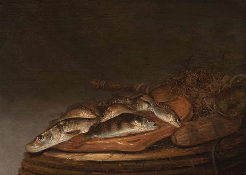 Pieter de Putter - Still Life with Pike and Perch