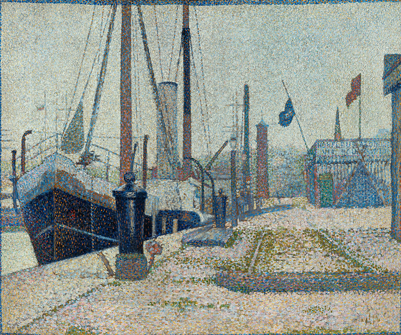 "Georges Seurat - The ""Maria"" at Honfleur"