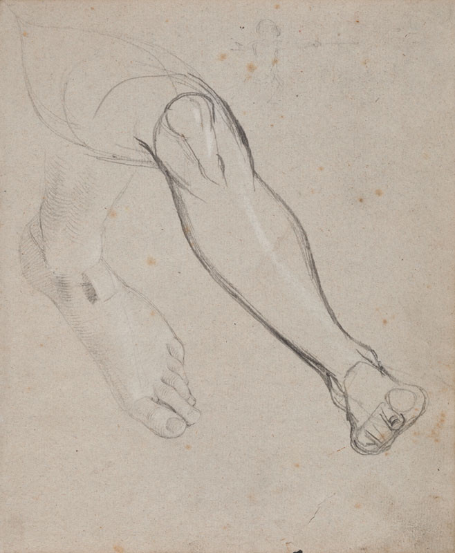František Tkadlík - Sheet from Sketchbook A - two studies of legs