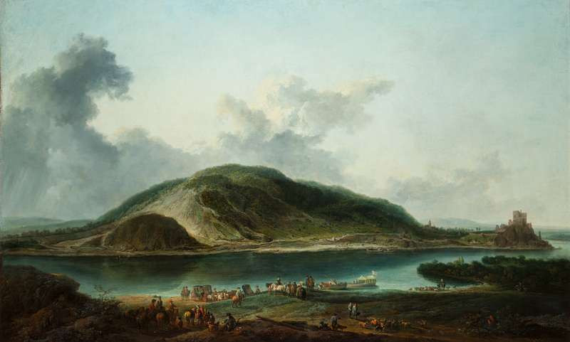 Johann Christian Brand - Landscape with Děvín Castle at the Outfall of the Morava into the Danube