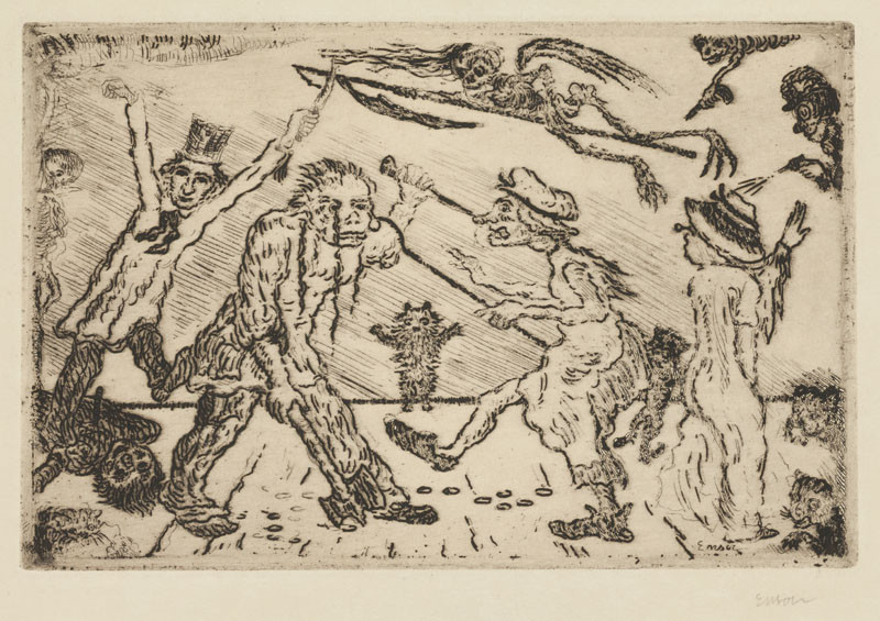 James Ensor - Anger from the cycle The Deadly Sins