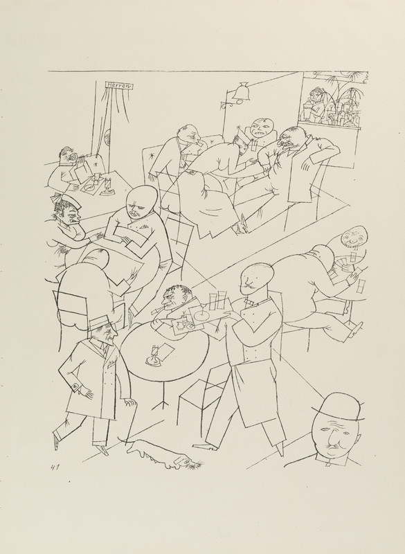 "George Grosz - engraver, Malik Verlag Berlin - publisher - From the cycle ""Ecce homo"" - 41. Café"