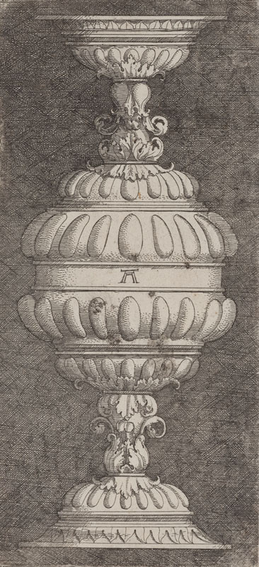 Albrecht Altdorfer - engraver - Double goblet with acanthus leaves