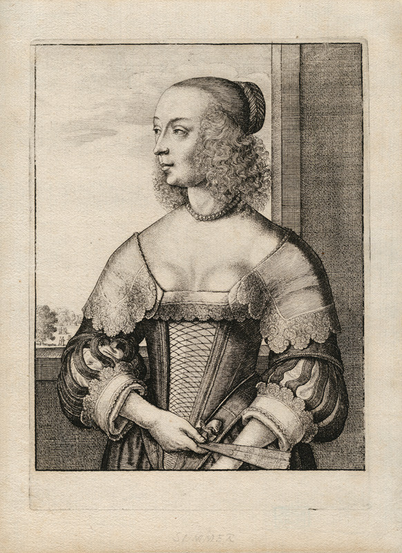 Wenceslaus Hollar - engraver - Summer from the cycle The Four Seasons as Half-Length Female Figures