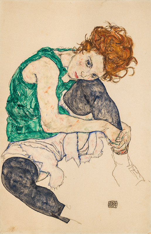 Egon Schiele - Seated Woman with Bent Knees