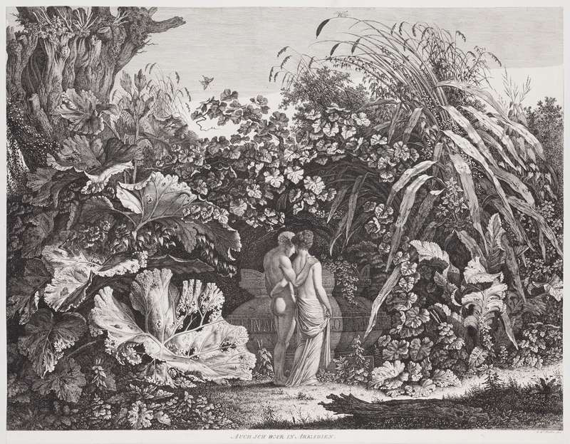 Carl Wilhelm Kolbe - engraver - I Too Have Been in Arcadia