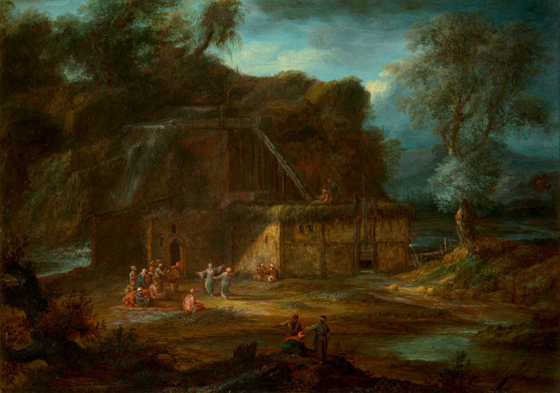 Christoph Ludwig Agricola - Krajina s odpočívajícími orientálci   Národní  galerie Praha - sbírky