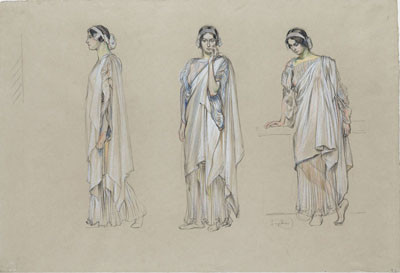 František Kupka - Standing Female Figures, study for Aristophanes' Lysistrata